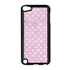 Scales2 White Marble & Pink Watercolor (r) Apple Ipod Touch 5 Case (black)