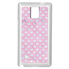 Scales2 White Marble & Pink Watercolor (r) Samsung Galaxy Note 4 Case (white)
