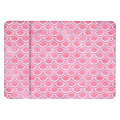 Scales2 White Marble & Pink Watercolor Samsung Galaxy Tab 8 9  P7300 Flip Case
