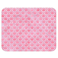 Scales2 White Marble & Pink Watercolor Double Sided Flano Blanket (medium)