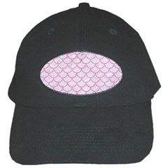Scales1 White Marble & Pink Watercolor (r) Black Cap