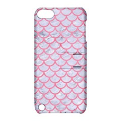Scales1 White Marble & Pink Watercolor (r) Apple Ipod Touch 5 Hardshell Case With Stand