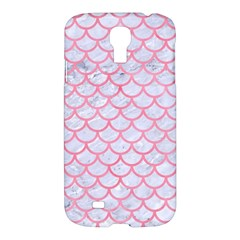 Scales1 White Marble & Pink Watercolor (r) Samsung Galaxy S4 I9500/i9505 Hardshell Case