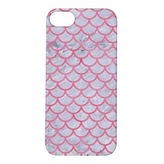Scales1 White Marble & Pink Watercolor (r) Apple Iphone 5s/ Se Hardshell Case by trendistuff