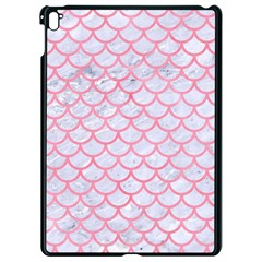 Scales1 White Marble & Pink Watercolor (r) Apple Ipad Pro 9 7   Black Seamless Case