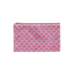Scales1 White Marble & Pink Watercolor Cosmetic Bag (small)