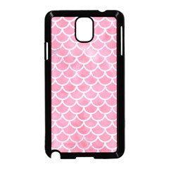 Scales1 White Marble & Pink Watercolor Samsung Galaxy Note 3 Neo Hardshell Case (black)