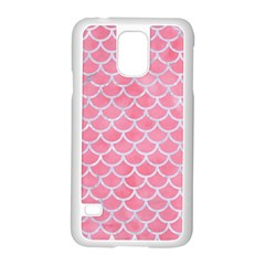 Scales1 White Marble & Pink Watercolor Samsung Galaxy S5 Case (white)