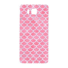 Scales1 White Marble & Pink Watercolor Samsung Galaxy Alpha Hardshell Back Case