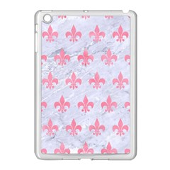 Royal1 White Marble & Pink Watercolor Apple Ipad Mini Case (white)