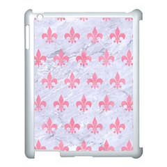 Royal1 White Marble & Pink Watercolor Apple Ipad 3/4 Case (white) by trendistuff