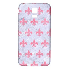 Royal1 White Marble & Pink Watercolor Samsung Galaxy S5 Back Case (white)