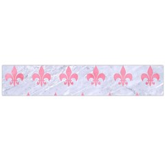 Royal1 White Marble & Pink Watercolor Large Flano Scarf