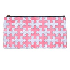 Puzzle1 White Marble & Pink Watercolor Pencil Cases