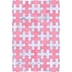 Puzzle1 White Marble & Pink Watercolor 5 5  X 8 5  Notebooks