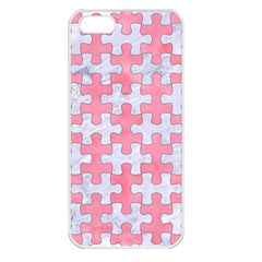 Puzzle1 White Marble & Pink Watercolor Apple Iphone 5 Seamless Case (white)