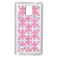 Puzzle1 White Marble & Pink Watercolor Samsung Galaxy Note 4 Case (white)