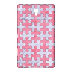Puzzle1 White Marble & Pink Watercolor Samsung Galaxy Tab S (8 4 ) Hardshell Case
