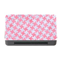 Houndstooth2 White Marble & Pink Watercolor Memory Card Reader With Cf by trendistuff