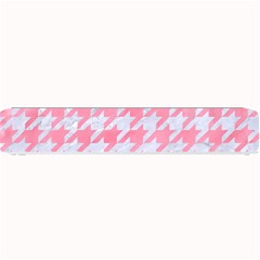 Houndstooth1 White Marble & Pink Watercolor Small Bar Mats