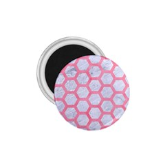 Hexagon2 White Marble & Pink Watercolor (r) 1 75  Magnets