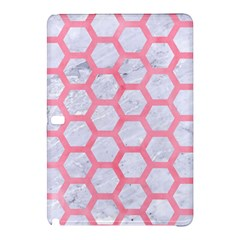 Hexagon2 White Marble & Pink Watercolor (r) Samsung Galaxy Tab Pro 12 2 Hardshell Case by trendistuff