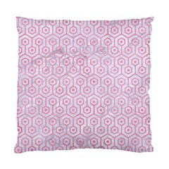 Hexagon1 White Marble & Pink Watercolor (r) Standard Cushion Case (two Sides)