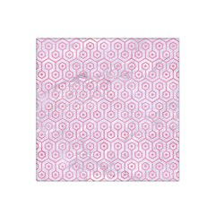 Hexagon1 White Marble & Pink Watercolor (r) Satin Bandana Scarf