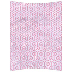 Hexagon1 White Marble & Pink Watercolor (r) Back Support Cushion