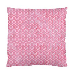 Hexagon1 White Marble & Pink Watercolor Standard Cushion Case (two Sides)