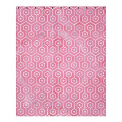 Hexagon1 White Marble & Pink Watercolor Shower Curtain 60  X 72  (medium)  by trendistuff