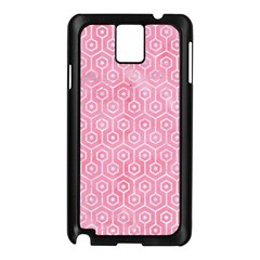 Hexagon1 White Marble & Pink Watercolor Samsung Galaxy Note 3 N9005 Case (black)