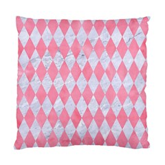 Diamond1 White Marble & Pink Watercolor Standard Cushion Case (one Side)