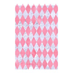 Diamond1 White Marble & Pink Watercolor Shower Curtain 48  X 72  (small)