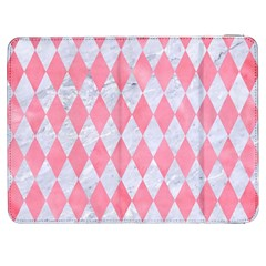 Diamond1 White Marble & Pink Watercolor Samsung Galaxy Tab 7  P1000 Flip Case