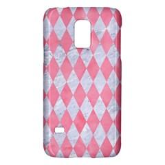 Diamond1 White Marble & Pink Watercolor Galaxy S5 Mini