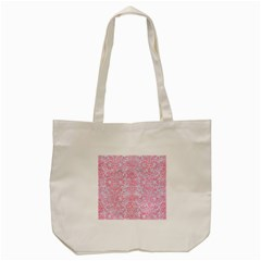 Damask2 White Marble & Pink Watercolor (r) Tote Bag (cream)