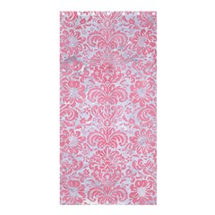 Damask2 White Marble & Pink Watercolor (r) Shower Curtain 36  X 72  (stall)