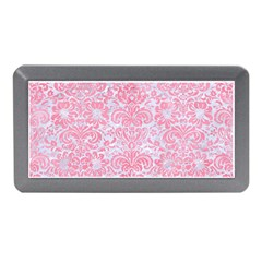 Damask2 White Marble & Pink Watercolor (r) Memory Card Reader (mini) by trendistuff