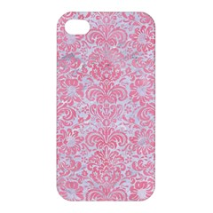 Damask2 White Marble & Pink Watercolor (r) Apple Iphone 4/4s Hardshell Case