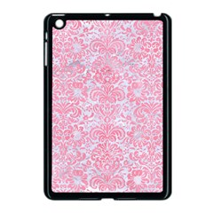 Damask2 White Marble & Pink Watercolor (r) Apple Ipad Mini Case (black) by trendistuff