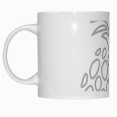 Pinapplesilvergray White Mugs