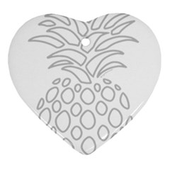 Pinapplesilvergray Ornament (heart)