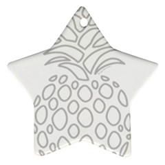 Pinapplesilvergray Star Ornament (two Sides)