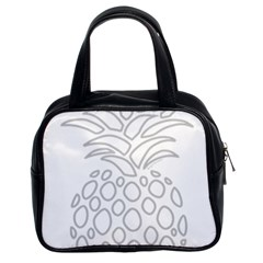 Pinapplesilvergray Classic Handbags (2 Sides)