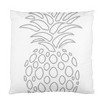 Pinapplesilvergray Standard Cushion Case (Two Sides) Front