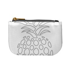 Pinapplesilvergray Mini Coin Purses
