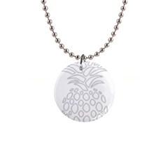 Pinapplesilvergray Button Necklaces