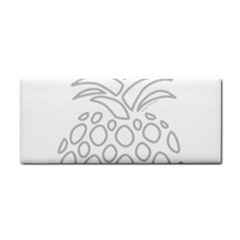 Pinapplesilvergray Hand Towel