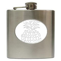 Pinapplesilvergray Hip Flask (6 Oz)